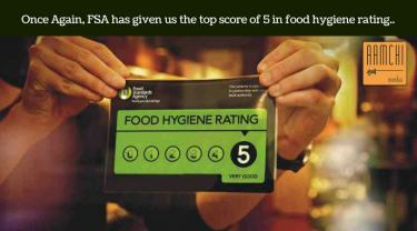 Once again, FSA has given us the top score of 5 in foodhygiene rating.